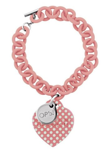 OPS!OBJECTS Bracelet pink with light-blue points stainless steel OPSBR-33-1800