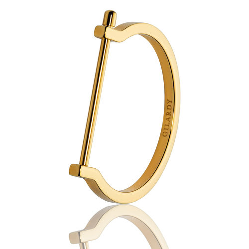 GILARDY BASIC Cuff BR2 angular closed stainless steel gold