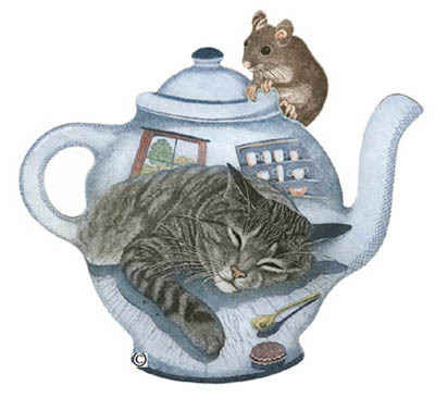 52. Teapot with Cat and Mouse