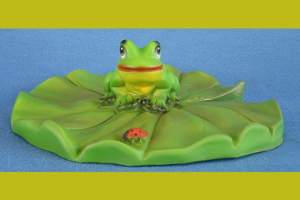 seerosenblatt mit frosch  wilkommen bei coolezwerge