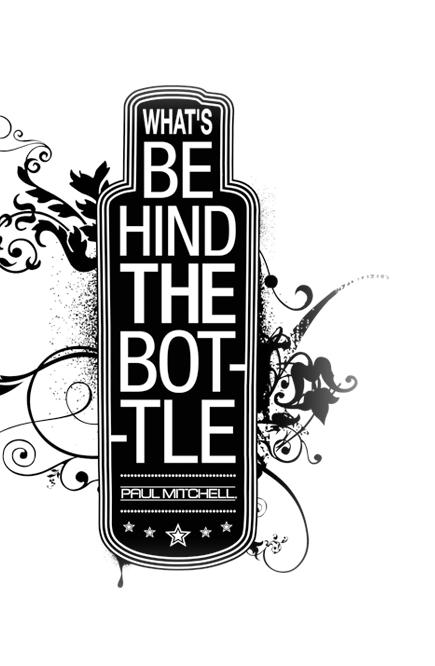 Flasche mit Aufschrift Whats Behind the Bottle