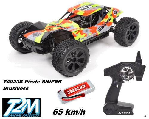 T2M Pirate SNIPER Brushless 4WD 1/10 OFF-ROAD Buggy 2,4 GHz gelb T4923B