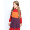 Il Gufo pleated cashmere dress plum/berry