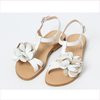 Il Gufo sandals with 3D flower beige