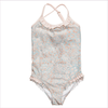 Miss Blumarine Girls Pale Pink and Blue Swimsuit
