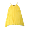 Miss Blumarine Girls Yellow Pleated Dress