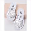 Miss Blumarine Girls White Flip Flops