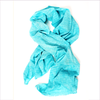 Eddie Pen Girls Turquoise Lightweight Cotton Scarf