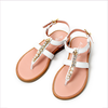 Miss Blumarine Girls Leather White Sandals