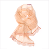 Miss Blumarine Girls Beige Lightweight Silk Scarf