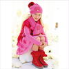 Miss Blumarine Girls Knitted Pink Hat, Scarf and Gloves Set