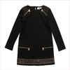 Young Versace Black Greek Fret Jersey Dress