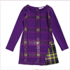 Young Versace Girls Purple Tartan Glitter Dress