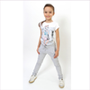ELSY Girl Grey Cotton Jersey Trousers