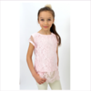 ELSY Girl Pale Pink Lace Shirt & Top Set