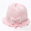 Catya Baby Girls Pale Pink Fine Knit Hat