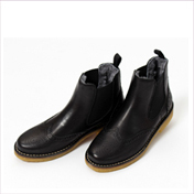 Zecchino d`Oro Girls Black Leather Chelsea Boots