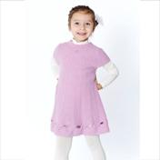 Miss Blumarine Luxus Kleid mit Shirt Angora Flieder