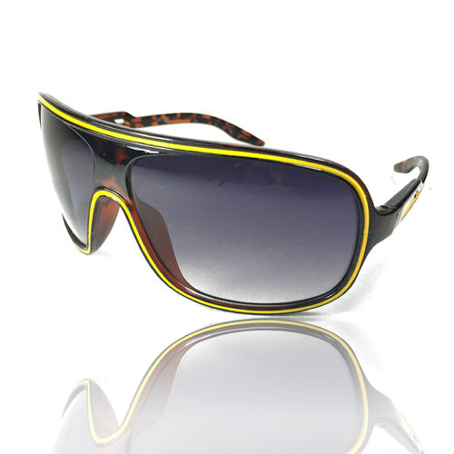 Sonnenbrille Officer Style Brown Yellow