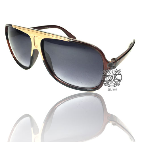 Sonnenbrille Officer Style Brown Beige