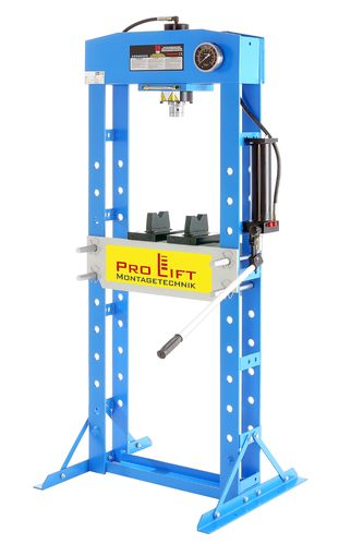 30t shop press, manually, welded frame, blue, 00009