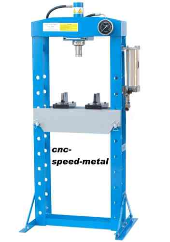 20t shop press, manually, welded frame, blue, 00010