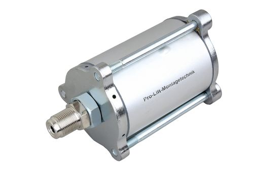 Compressed air motor for pneumatic hydraulic pumps, housing with stud, silver, 00018