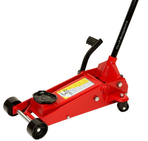 3t floor jack, garage jack, steel, with foot pedal, red, 83502T, 00027