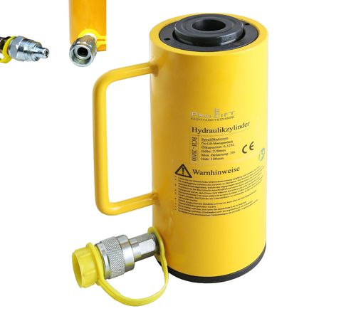 20t hollow piston cylinder, stroke 100mm, 00057