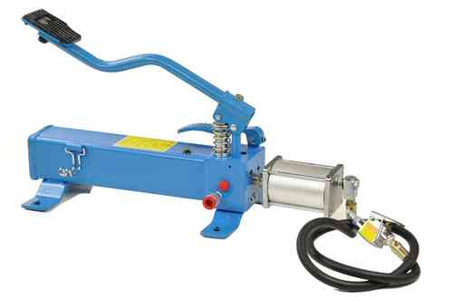 Hydraulic foot pump with foot pedal, pneumatic drive, ATV, 00048