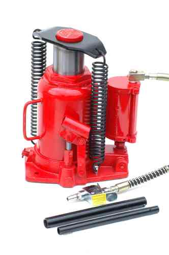 30t bottle jack, hydraulic jack, pneumatic + manually, 00070