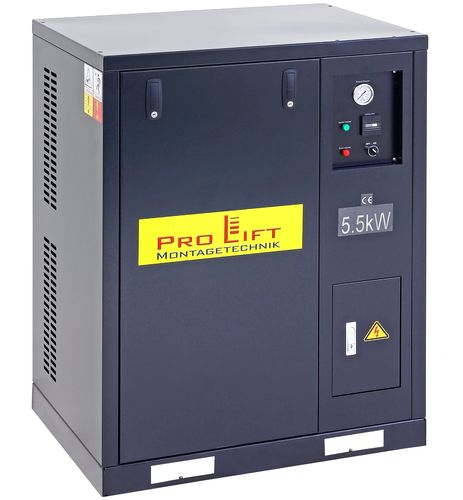 5.5kW silent compressor, 8bar, sound isolated, 00177