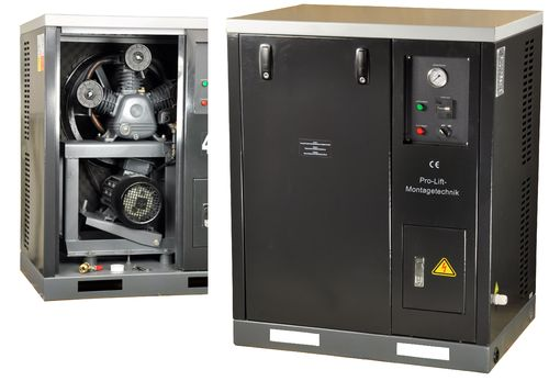 4kW silent compressor, 8bar, sound isolated, 00179