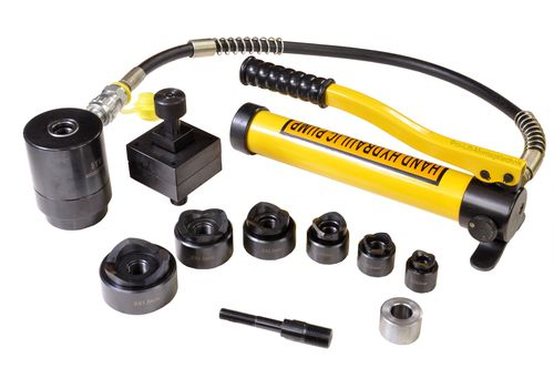 15t punch driver set, hydraulic, round + square punches, 00242