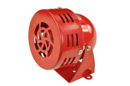 12V mini siren, 95dB, red, MS190L, 00262