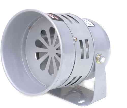 12V electric siren, 113dB, grey, MS290L, 00264