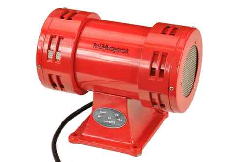 230V electric motor siren, with stand, 113dB, red, JDW105L, 00267