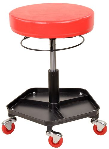Rotatable workshop stool, red, 00302