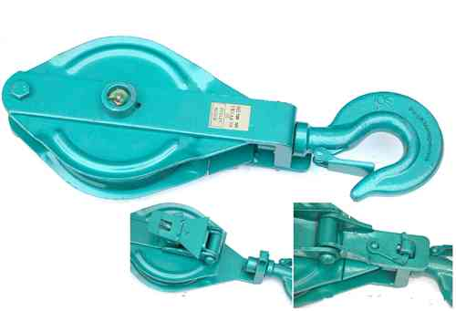 Snatch block, pulley block, 1500kg, green, 00306