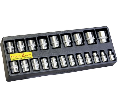 "1/2"" socket box, Seneca, 8mm-32mm, for impact wrenches, 21 pieces, 910006, 00369"