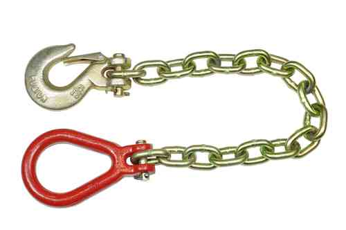 Sling chain, 8mm chain strength, length 70cm, with hook and eyelet, 00381
