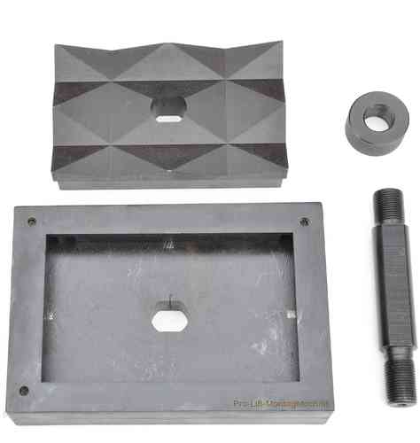 Rectangular sheet metal punch and die, 164mm x 85mm, 00568