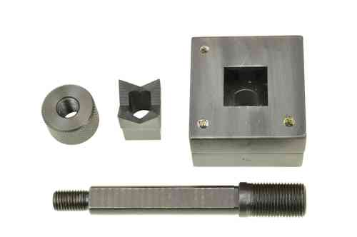 Square sheet metal punch driver, 22.4mm x 22.4mm, draw stud + nut, 00794