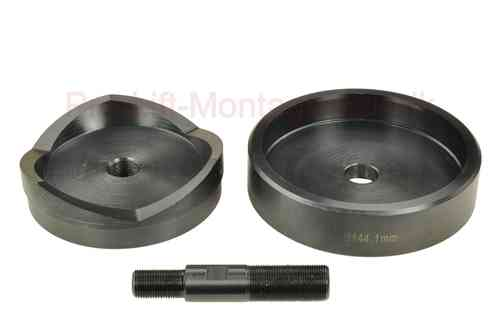 Round sheet metal punch and die, 144.1mm diameter, with draw stud, 00918