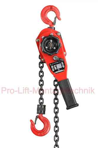 1000kg lever block, chain hoist, ratchet, red, T, 00928