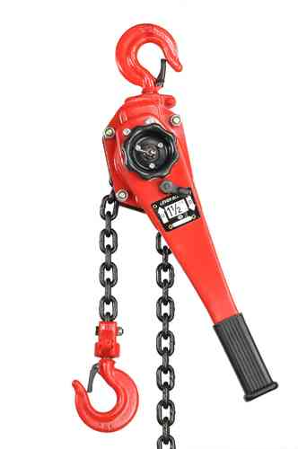 1500kg lever block, chain hoist, ratchet, red, T, 00934