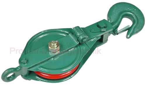 Snatch block, 4000 kg, green, 00958