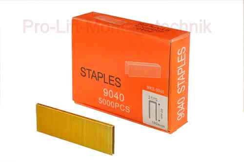 5000 replacement staples for compressed air stapler, 5.8mm staple width, 40mm length, 00998