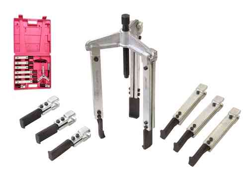 3 jaws puller set, 130mm usable width, 3 different jaw lengths, bearing puller, JGP3P3D, 01303