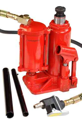 5t bottle jack, hydraulic jack, pneumatic + manual, 01418